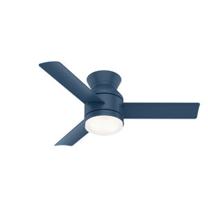 Dublin Indigo Blue 44-Inch Two-Light LED Ceiling Fan