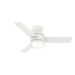 Dublin Matte White 44-Inch Two-Light LED Ceiling Fan