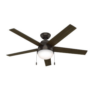 Anslee Premier Bronze 52-Inch Two-Light LED Ceiling Fan
