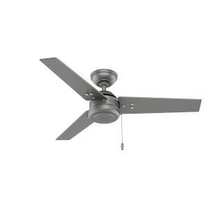 Cassius Matte Silver 44-Inch Outdoor Ceiling Fan