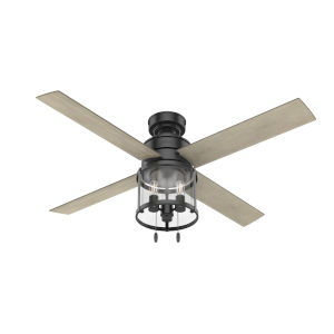 Astwood Matte Black Three-Light LED 52-Inch Ceiling Fan