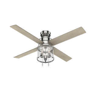 Astwood Polished Nickel Three-Light LED 52-Inch Ceiling Fan