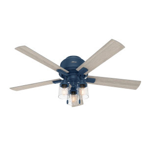 Hartland Indigo Blue 52-Inch Three-Light LED Ceiling Fan