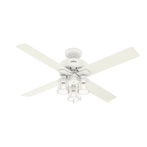 Pelston Matte White 52-Inch Three-Light LED Ceiling Fan