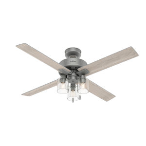 Pelston Matte Silver 52-Inch Three-Light LED Ceiling Fan
