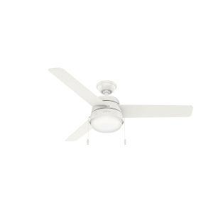 Aker Fresh White Two-Light LED 52-Inch Outdoor Ceiling Fan