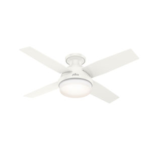 Dempsey Fresh White 44-Inch Outdoor Two-Light LED Ceiling Fan