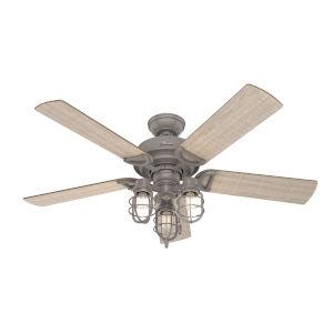 Starklake Quartz Grey 52-Inch Outdoor LED Ceiling Fan