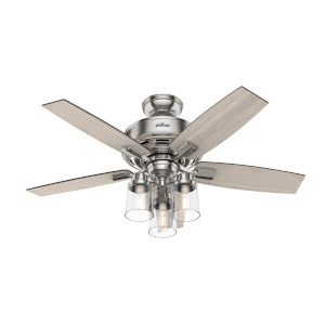 Bennett Brushed Nickel Three-Light LED 44-Inch Ceiling Fan