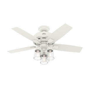 Bennett Matte White 44-Inch Three-Light LED Ceiling Fan
