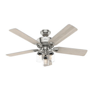 Devon Park Brushed Nickel 52-Inch LED Ceiling Fan