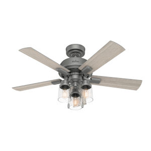 Hartland Matte Silver 44-Inch LED Ceiling Fan