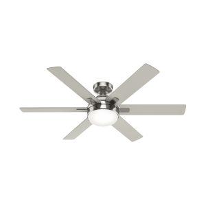 Hardaway Brushed Nickel 52-Inch Two-Light LED Ceiling Fan