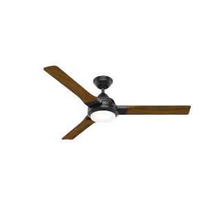Leti Matte Black 54-Inch LED Ceiling Fan