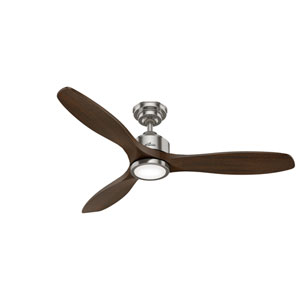 Melbourne Brushed Nickel 52-Inch One-Light LED Ceiling Fans