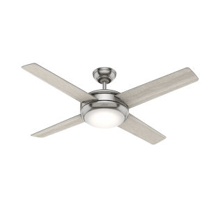 Marconi Brushed Nickel Two-Light LED 52-Inch Ceiling Fan