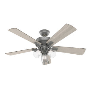 Crestfield Matte Silver Three-Light LED 52-Inch Ceiling Fan