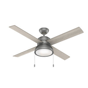 Loki Matte Silver Two-Light LED 52-Inch Ceiling Fan