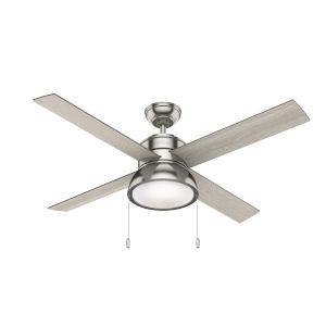 Loki Brushed Nickel Two-Light LED 52-Inch Ceiling Fan