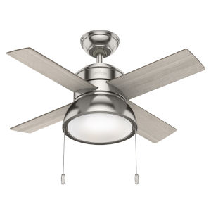 Loki Brushed Nickel 36-Inch Two-Light LED Ceiling Fan