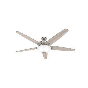 Stockbridge Brushed Nickel 70-Inch Three-Light LED Ceiling Fan