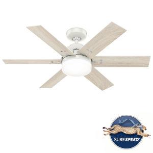 Pacer Fresh White 44-Inch Two-Light LED Ceiling Fan