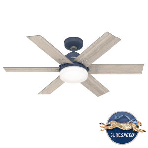 Pacer Indigo Blue 44-Inch Two-Light LED Ceiling Fan