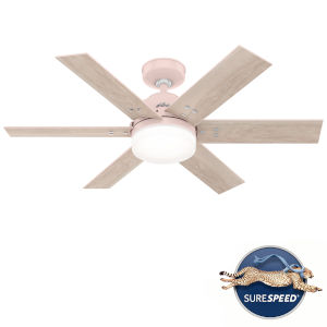 Pacer Blush Pink 44-Inch Two-Light LED Ceiling Fan