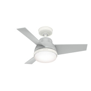 Valda Dove Grey 36-Inch Two-Light LED Ceiling Fan