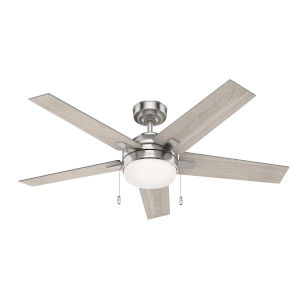 Bartlett Brushed Nickel 52-Inch Two-Light LED Ceiling Fan