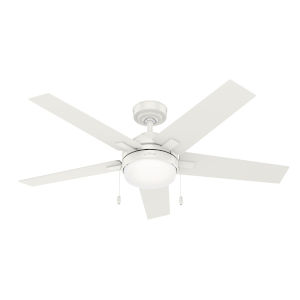 Bartlett Fresh White 52-Inch Two-Light LED Ceiling Fan