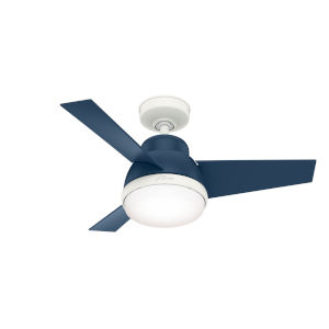 Valda Indigo Blue 36-Inch Two-Light LED Ceiling Fan