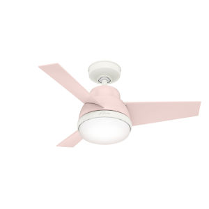 Valda Blush Pink 36-Inch Two-Light LED Ceiling Fan