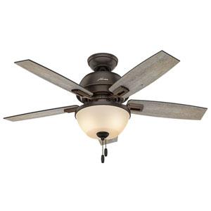 Donegan Barnwood and Dark Walnut 44-Inch Two-Light LED Adjustable Ceiling Fan