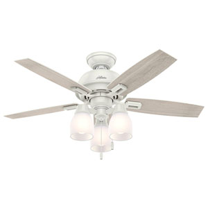 Donegan Fresh White 44-Inch Three-Light LED Adjustable Ceiling Fan