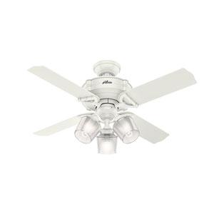 Brunswick Fresh White 44-Inch Three-Light LED Adjustable Ceiling Fan