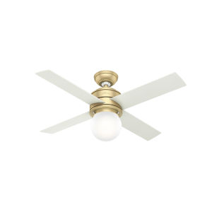 Hepburn Modern Brass 44-Inch LED Ceiling Fan