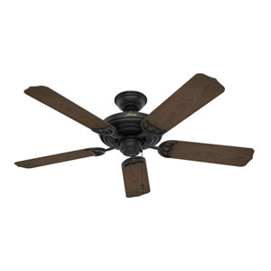 Sea Air Textured Matte Black 52-Inch Adjustable Ceiling Fan