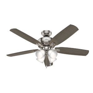 Amberlin Brushed Nickel Four-Light LED 52-Inch Ceiling Fan