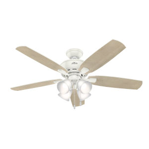 Amberlin Fresh White Four-Light LED 52-Inch Ceiling Fan