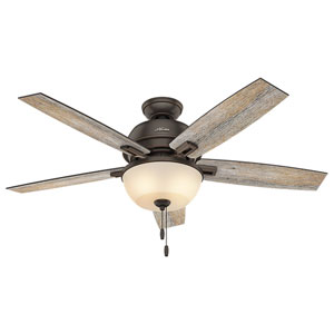 Donegan Onyx Bengal 52-Inch Two-Light LED Adjustable Ceiling Fan
