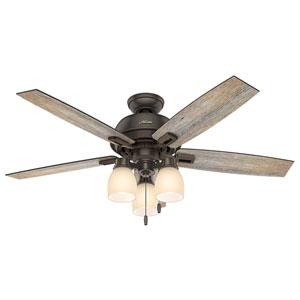 Donegan Onyx Bengal 52-Inch Three-Light LED Adjustable Ceiling Fan