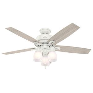 Donegan Fresh White 52-Inch Three-Light LED Adjustable Ceiling Fan