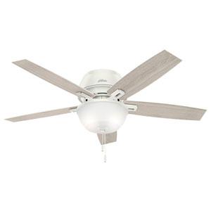 Donegan Fresh White 52-Inch Two-Light LED Ceiling Fan