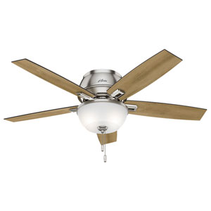 Donegan Brushed Nickel 52-Inch Two-Light LED Ceiling Fan