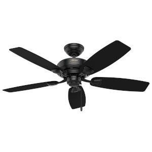 Sea Wind Matte Black 48-Inch Outdoor Ceiling Fan