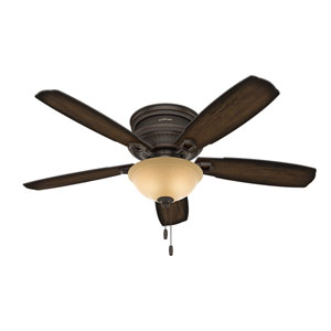 Ambrose Onyx Bengal 52-Inch Two-Light LED Ceiling Fan