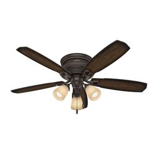 Ambrose Onyx Bengal 52-Inch Three-Light LED Ceiling Fan