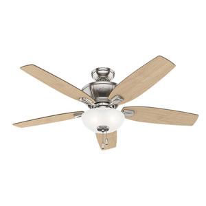 Kenbridge Brushed Nickel 52-Inch Three-Light LED Adjustable Ceiling Fan
