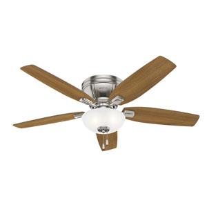 Kenbridge Brushed Nickel 52-Inch Three-Light LED Ceiling Fan